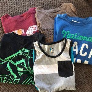 Bundle of 5 Boys T-shirt, size medium